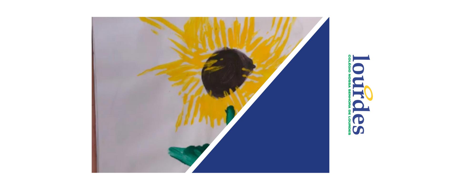 "Releitura da obra ""Os girassóis"" de Van Gogh – Infantil IV"
