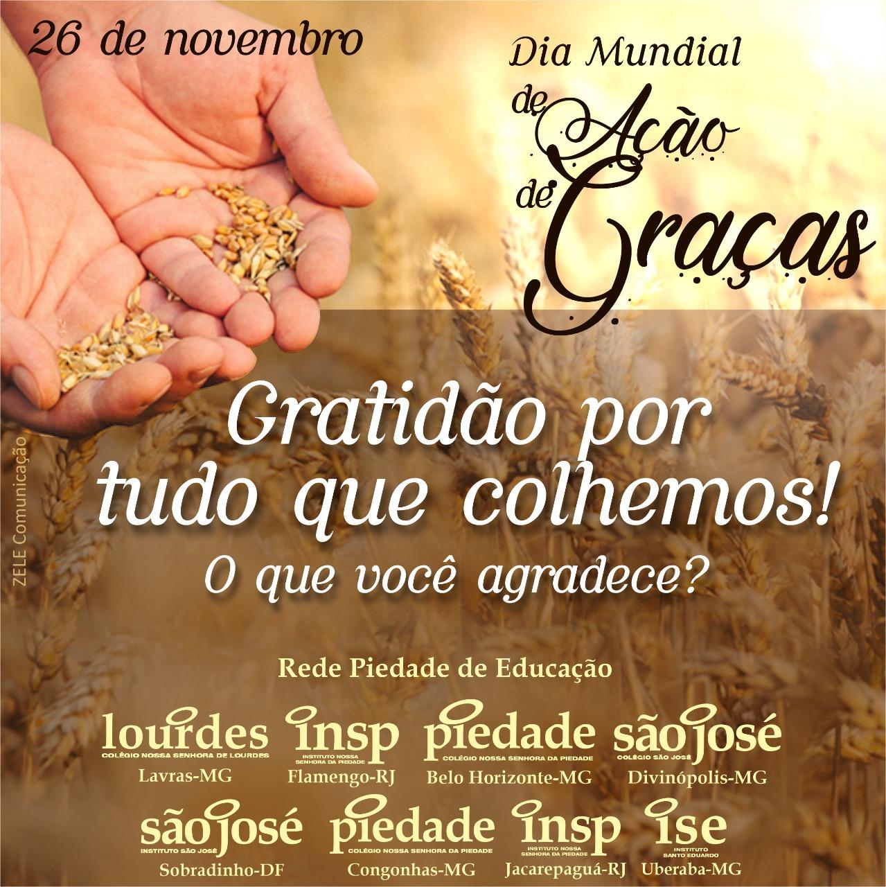 Dia mundial de ação de graças – 26 de novembro