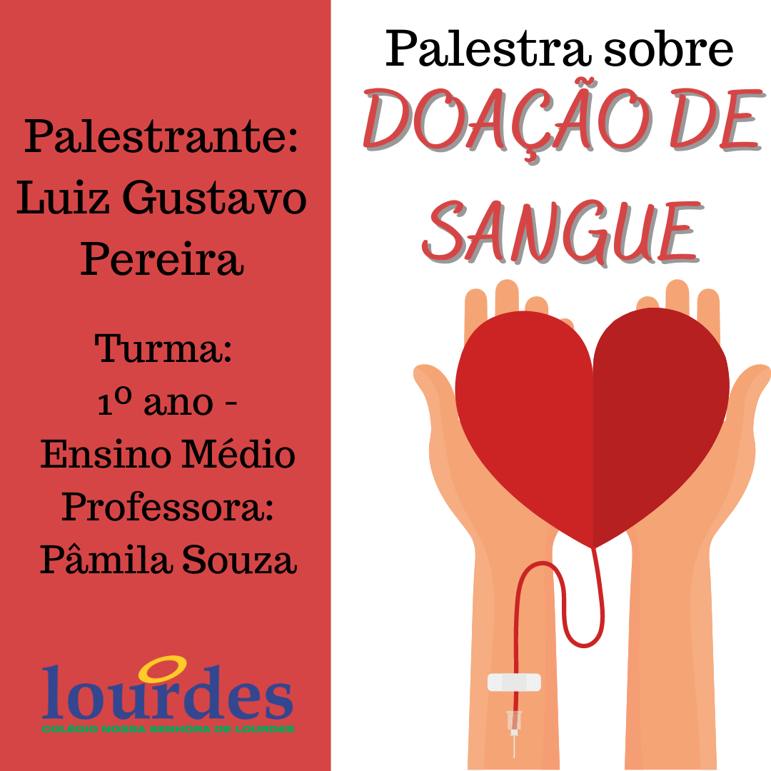 Palestra sobre Doação de sangue