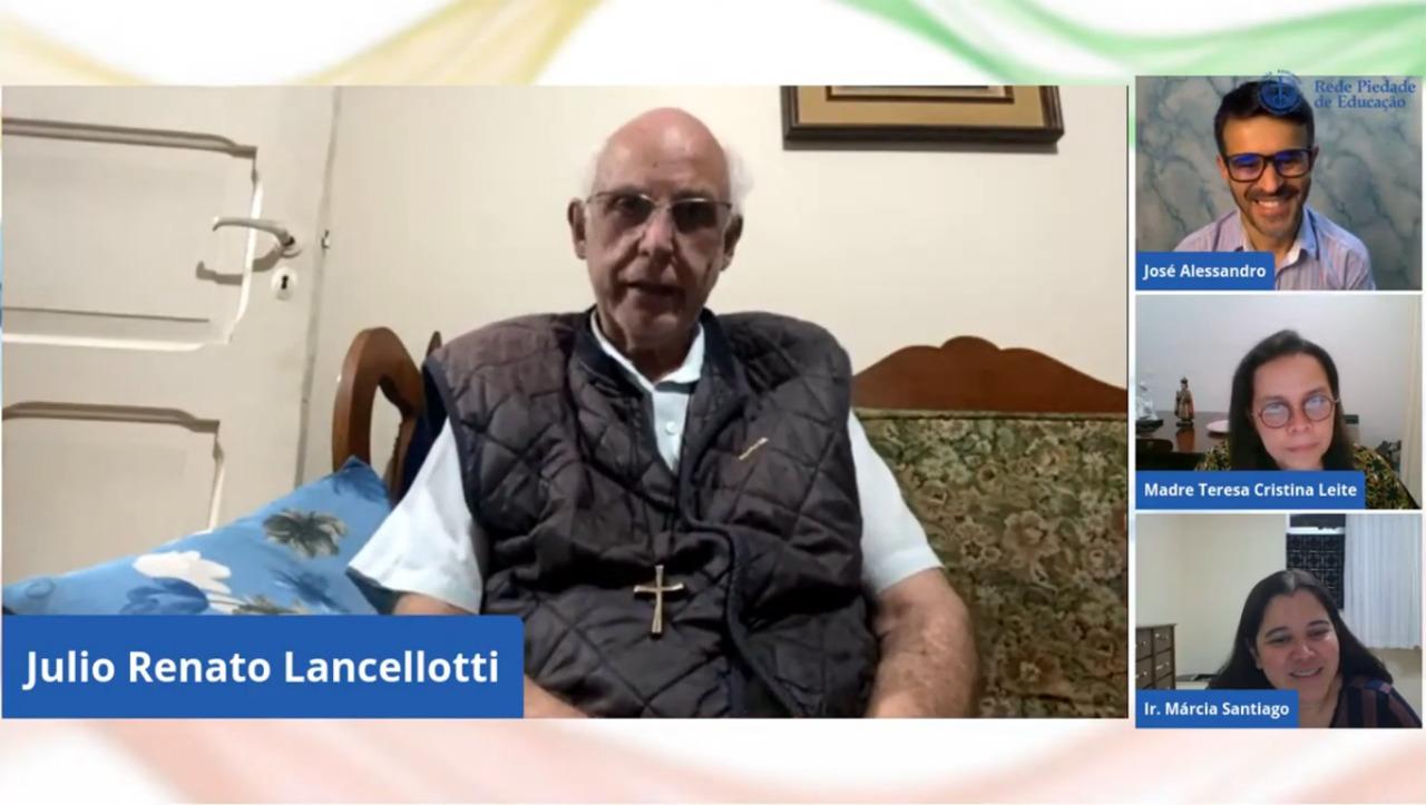 Padre Júlio Lancellotti dá lições sobre valores cristãos no Programa Mais Vida da Rede Piedade de Educação